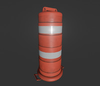 Large Traffic Cone - Game Ready