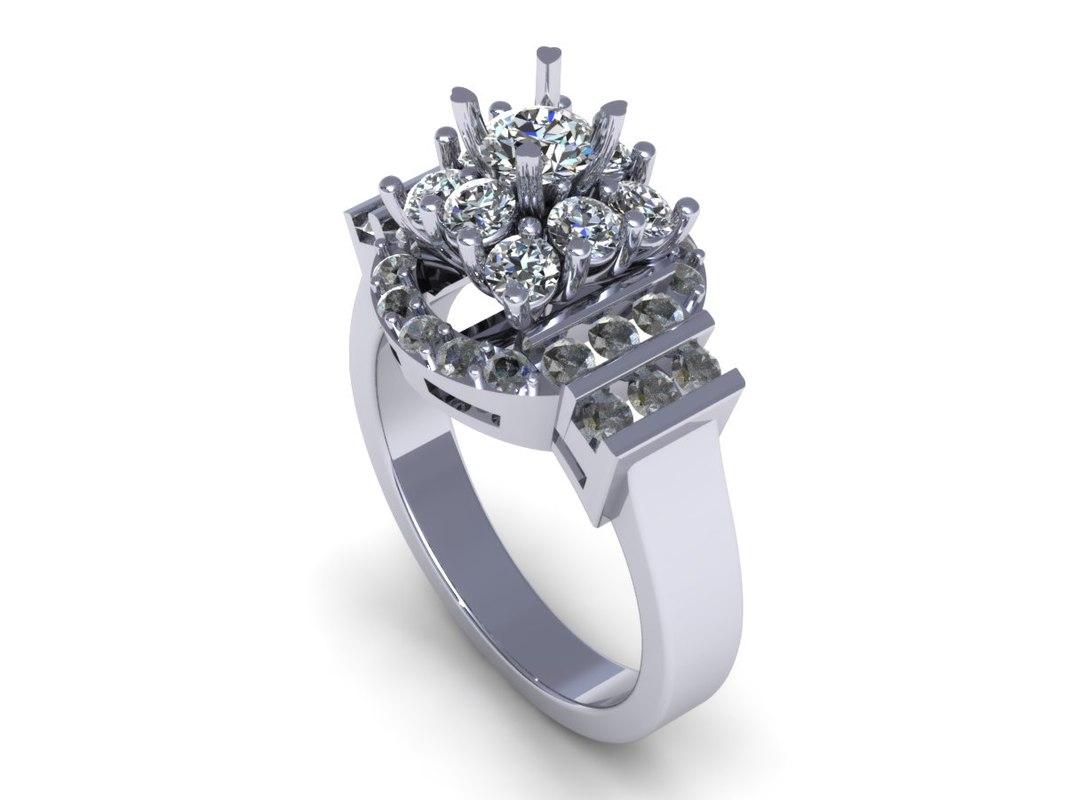 great diamond ring 3d 3dm