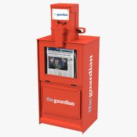 classic newspaper box red max