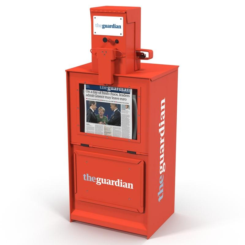 classic newspaper box red max