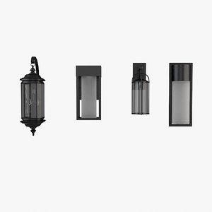 3dsmax exterior wall lantern