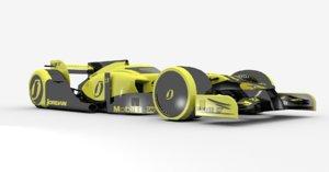 3d model f1 race car concept