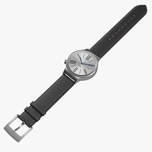 3d model huawei watch leather band
