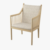3d model pp105 wegners easy chair
