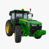 3d tractor generic 2 rigged model