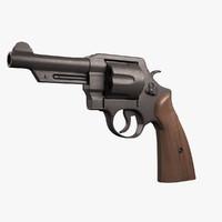 3d revolver realistic model