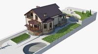 landscape house 3ds