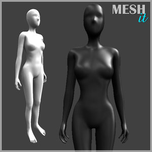 3d model female human girl