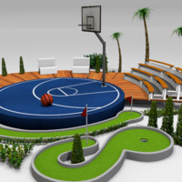 Basketball and golf court