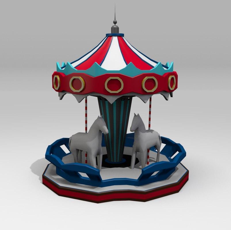 carousel 3d 3ds