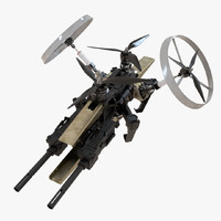 Sci-Fi Military Drone Vehicle