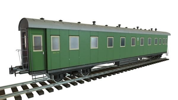 maya low-poly passenger train pbr