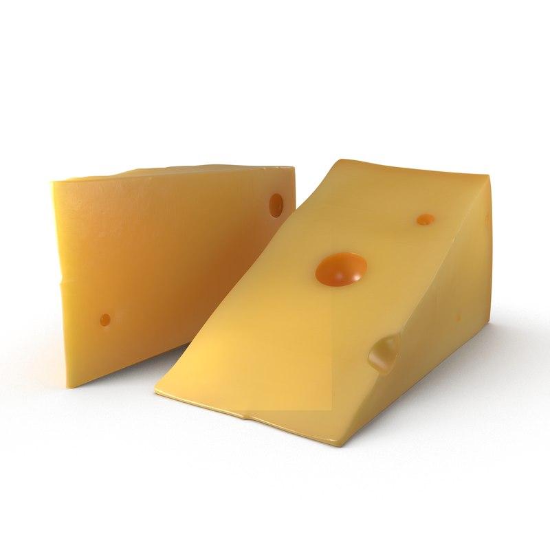 3d cheese wedge model