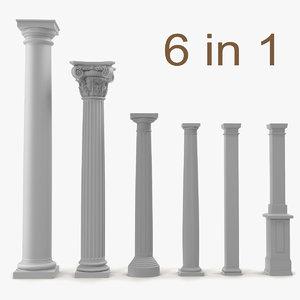 3dsmax columns set interior