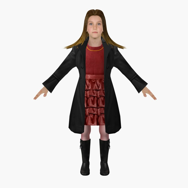 3d model girl ready animation