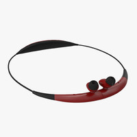 Bluetooth Headset Samsung Gear Circle Folded Red