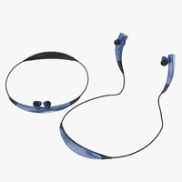 Bluetooth Headset Samsung Gear Circle Blue 3D Models Set