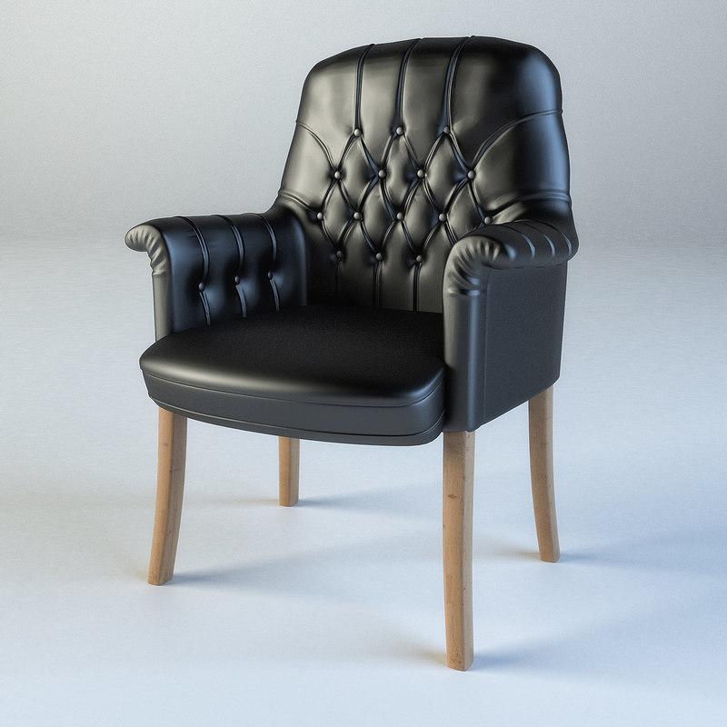 3d max oxford chair