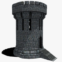 fantasy medieval castle tower max