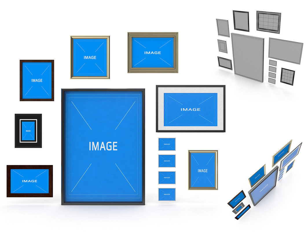 3d picture frames model