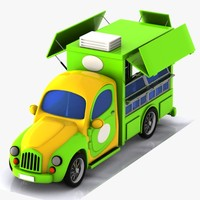 cartoon food truck 3d 3ds