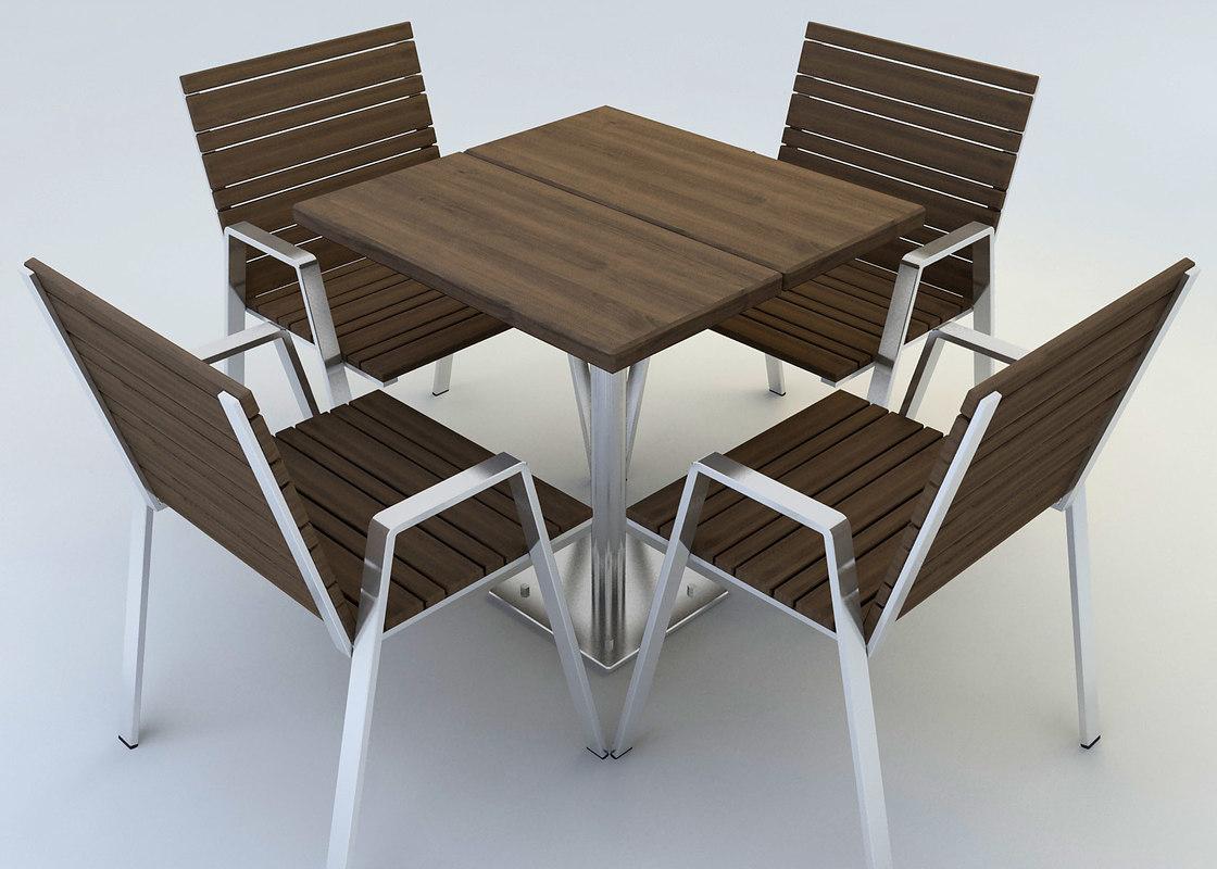 3d outdoor dining set