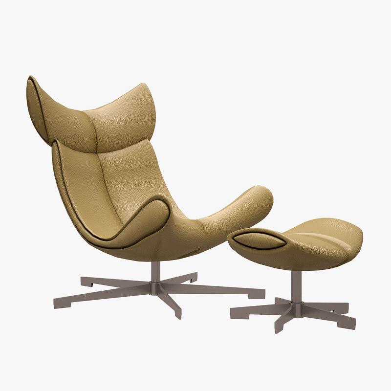 imola armchair chair 3d model