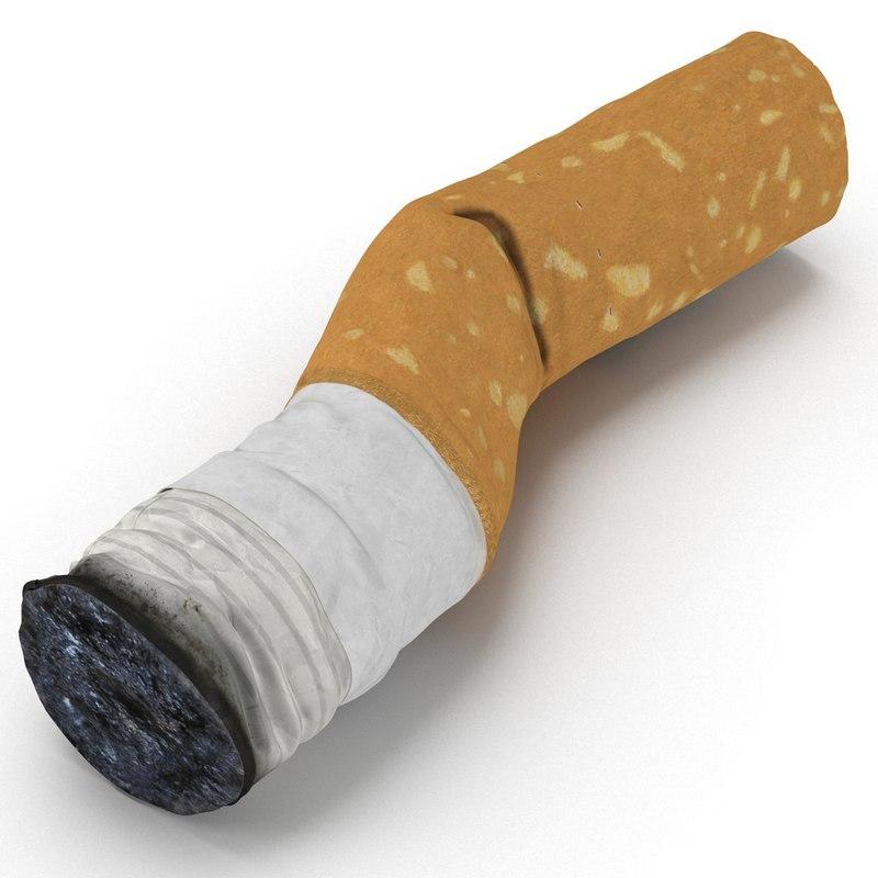3dsmax snuffed cigarette 2