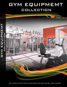 3d gym equipment exercise bike model