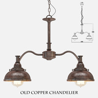 Old Copper Chandelier