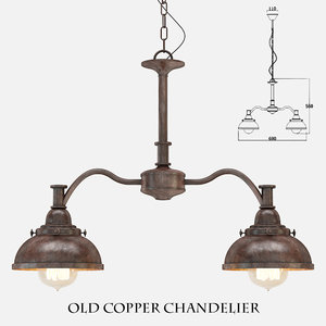 old copper chandelier 3d max