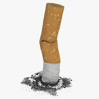3d model of snuffed cigarette