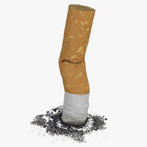 3d model of snuffed cigarette