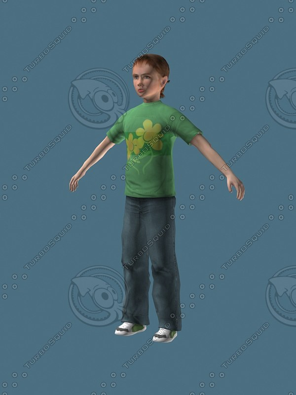 3d model 12 year old child girl