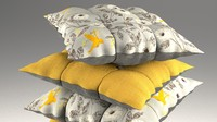 obj buttoned pillow set