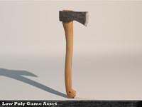 3d model of generic wood axe