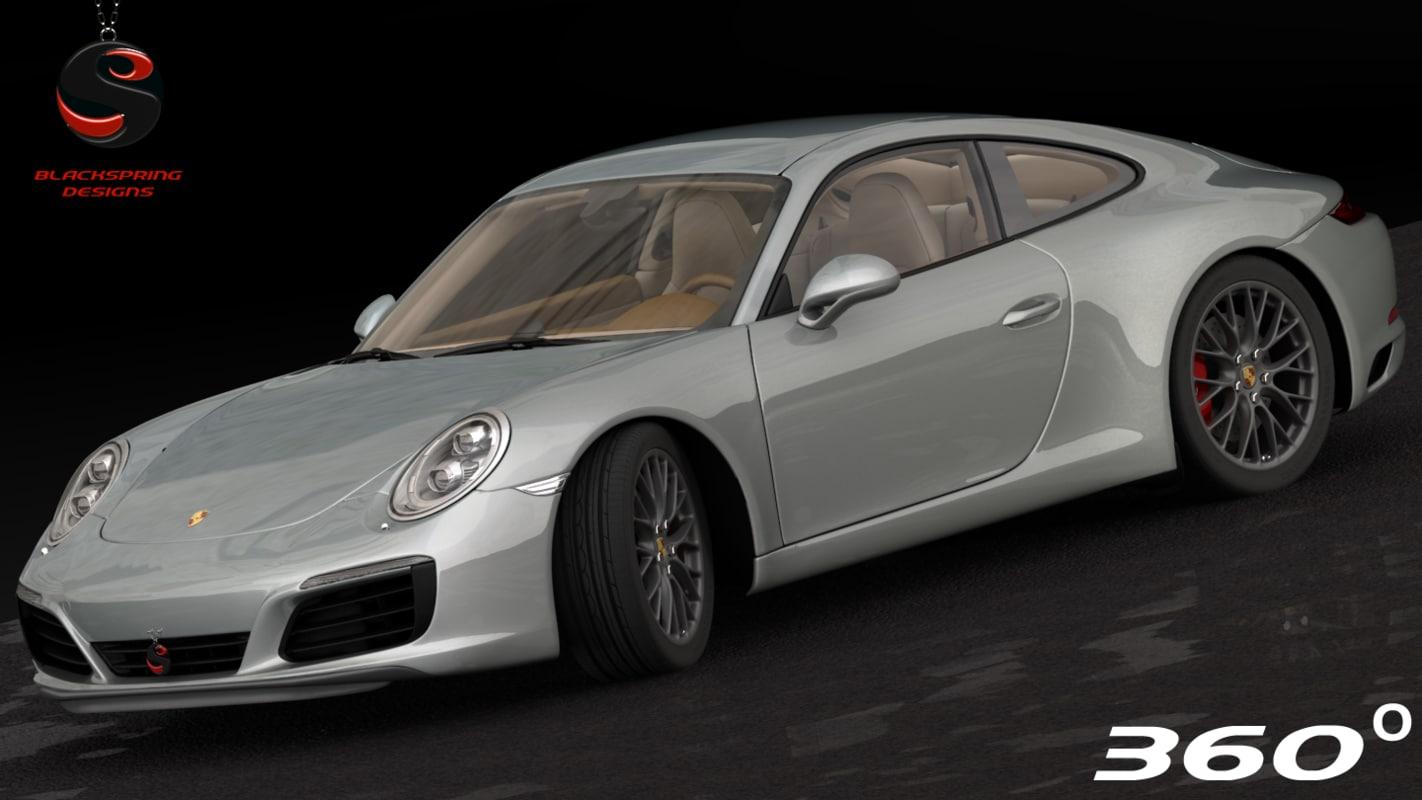 3d max porsche 911 carrera s