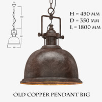 old copper pendant big 3d max