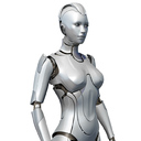 Female Cyborg Robot