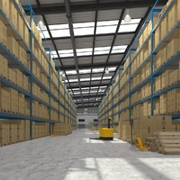 warehouse boxes realistic max