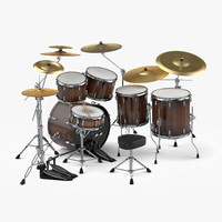 drum set percussion 3d max