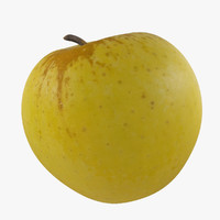 3d photorealistic apple