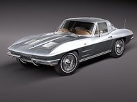 3d model chevrolet corvette c2 sport coupe