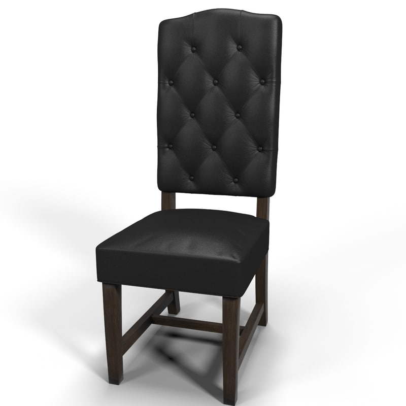 3d max tufted leather chair