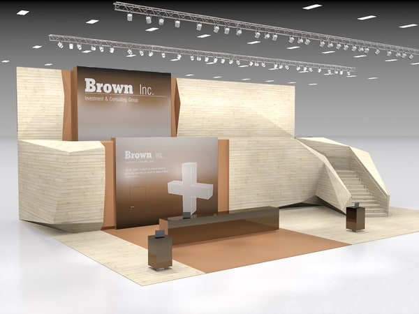 trade booth 3d model