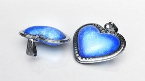 3d heart jewel model