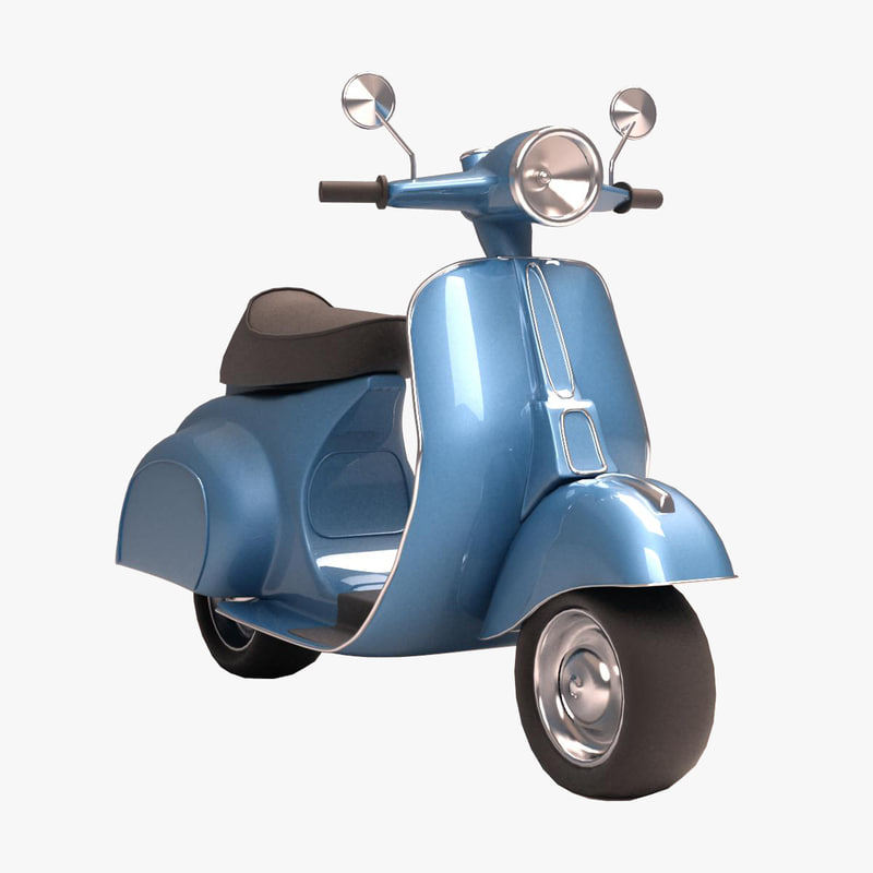 3dsmax antique scooter