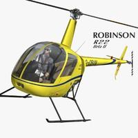 robinson r22 3d obj