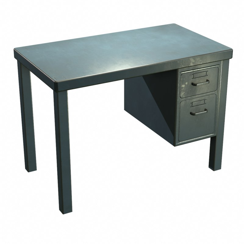 max french metal desk