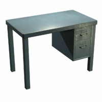French Metal Desk